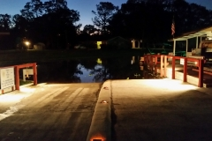 Our Boat ramp with flood lights