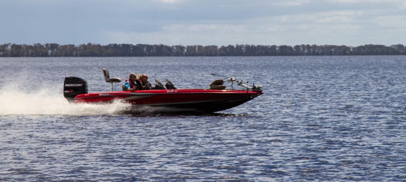 Boaters enjoying  Lake Istokpoga