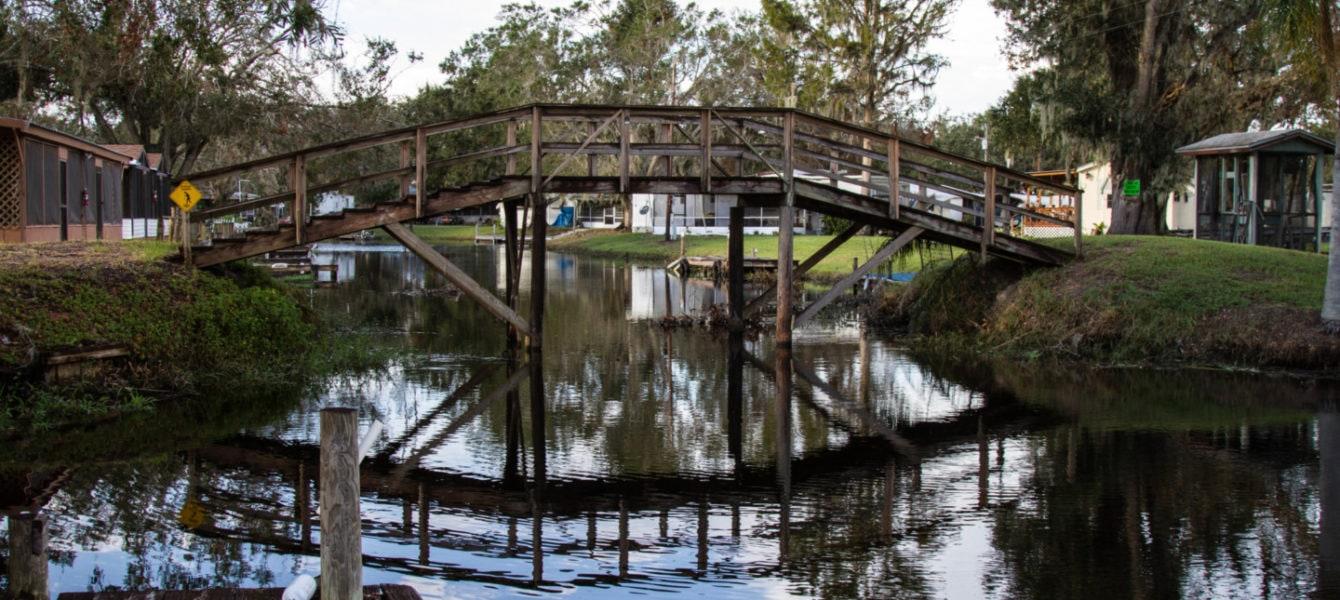 Trails End Fishing Resort Canal Bridge