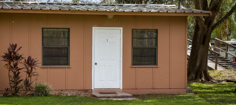 The front of Cabin 1