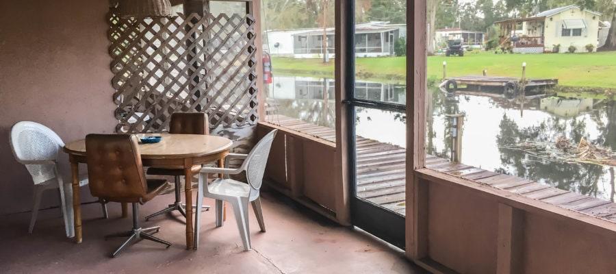 Cabin 1 Screened Porch