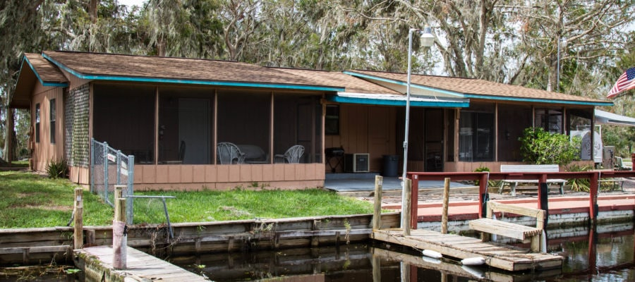 Cabin 6 from the water